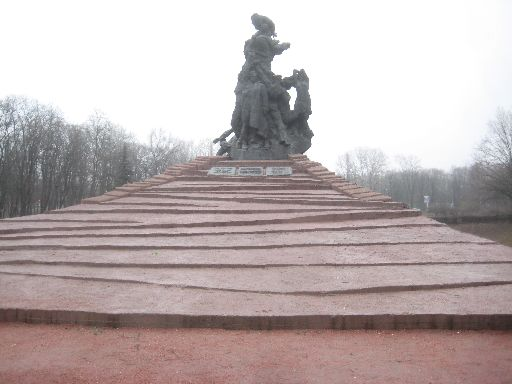 ...and the Soviet monument.