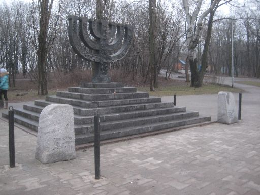 The Jewish monument takes some time to find.