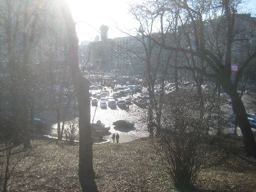 View from park to edge of Euromaidan area
