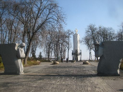 Holodomor memorial (wide view)