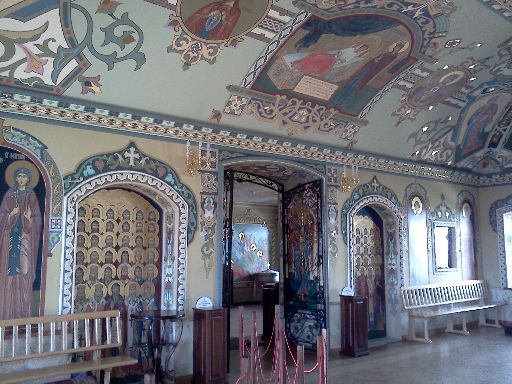 The interior of one of many buildings in the Lavra complex
