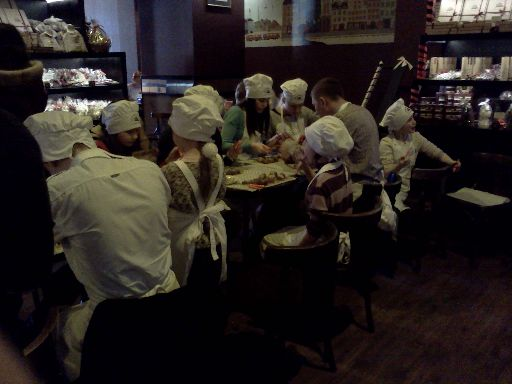 Little 'workers' at the Lviv Chocolate Factory
