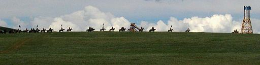 Reenactment of Mongol military movement